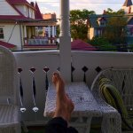 chillin' on the veranda (ok, balcony, whatever you want to call it!)