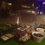 Jungle barbecue dinner