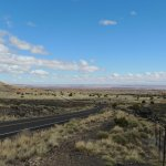 The road from Sunset Crater