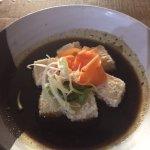 Fried tofu in black pepper sauce