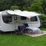 Spacious pits for caravans and tents. Special places for campers