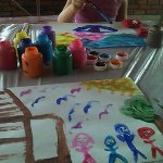 Free painting with my daughter!