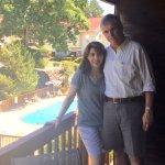 Desde el balcón de nuestra cabaña en Sun Bay Resort