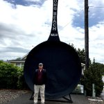 Being a tourist with the worlds largest frying pan