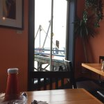 another cafe view of the boat dock