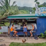 A L'Heure du Sud Roulotte (food truck). Best eatery find in Moorea!