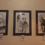 Marx, Engels and Lenin (look at the adorable child drawings below)
