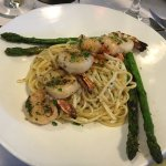 Herbed Prawns on linguine