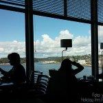 La vista desde el buffet donde se desayuna
