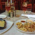 rosemary mac n cheese and calamari