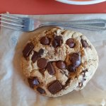 yes, that's a full sized fork next to the gigantic chocolate chip cookie! yummmmy!!