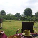 Columpios en el jardín.. Alguna desayuno muy rápido para poder ir.. :)