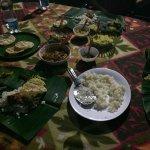 Traditional Keralan dinner