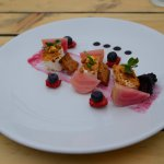 Goat Cheese and beetroot starter