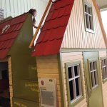 Dolls house with a slide