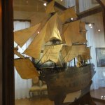 One of the detailed ship models