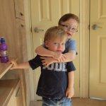 Children loving the caravan & having fun