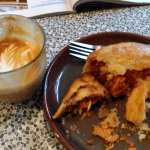 Flat white and three 'Ch's pasty