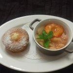 marmelade de pèche et abricot , gâteau au yaourt