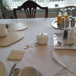 set ready for breakfast, loved all the little touched that made it special