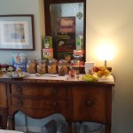 """Graet choice of fresh yoghurts, cereals, jams etc and fruit. very nice indeed""""!"""