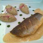 Filet de poisson, sauce langoustine