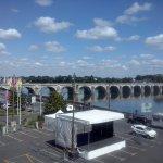 Vue vers le pont enjambant la Loire