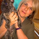 Owner Lynn with pet pooch!