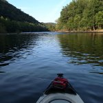 Kayak fishing the James