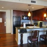 Kitchen in a 2-bedroom premier suite