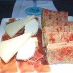 Jambon, fromage, pain au tomate
