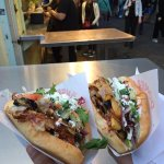 Chicken doner (check out the line behind).