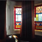 Stained glass windows in our room