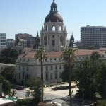 8th floor view looking SW at Pasadena's City Hall
