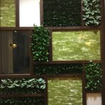 """A """"living wall"""" in the lobby."""