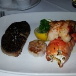 Butterflied 6oz filet and lobster tail