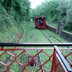 Passing the upcoming funicular on way back down