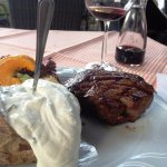 Picture of my 300g steak with wine