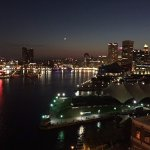 Baltimore Inner Harbor at night