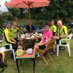 Recent visitors who visited the tearoom cycling en route from Scarborough back to Leeds!