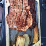 Combination plate (chicken, pork, steak)