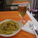 carbonara and beer