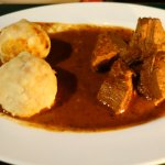 You call that a goulash? Is there adequate soup/gravy for the dumpling?