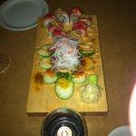 custom christmas tree sushi he made just for us!