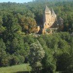 vue sur le chateau de Laussel