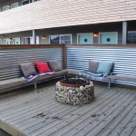 Fire pit beside the indoor pool to the right