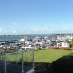 View from the honeymoon suite, Salterns Hotel