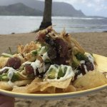 Ahi Poke Nachos from the pool and beach side service