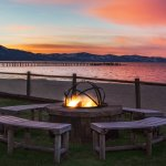 Outdoor Fire Pit at Sunset