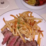 Steak Frittes and a side of Byaldi (ratatouille, just like the movie)!
